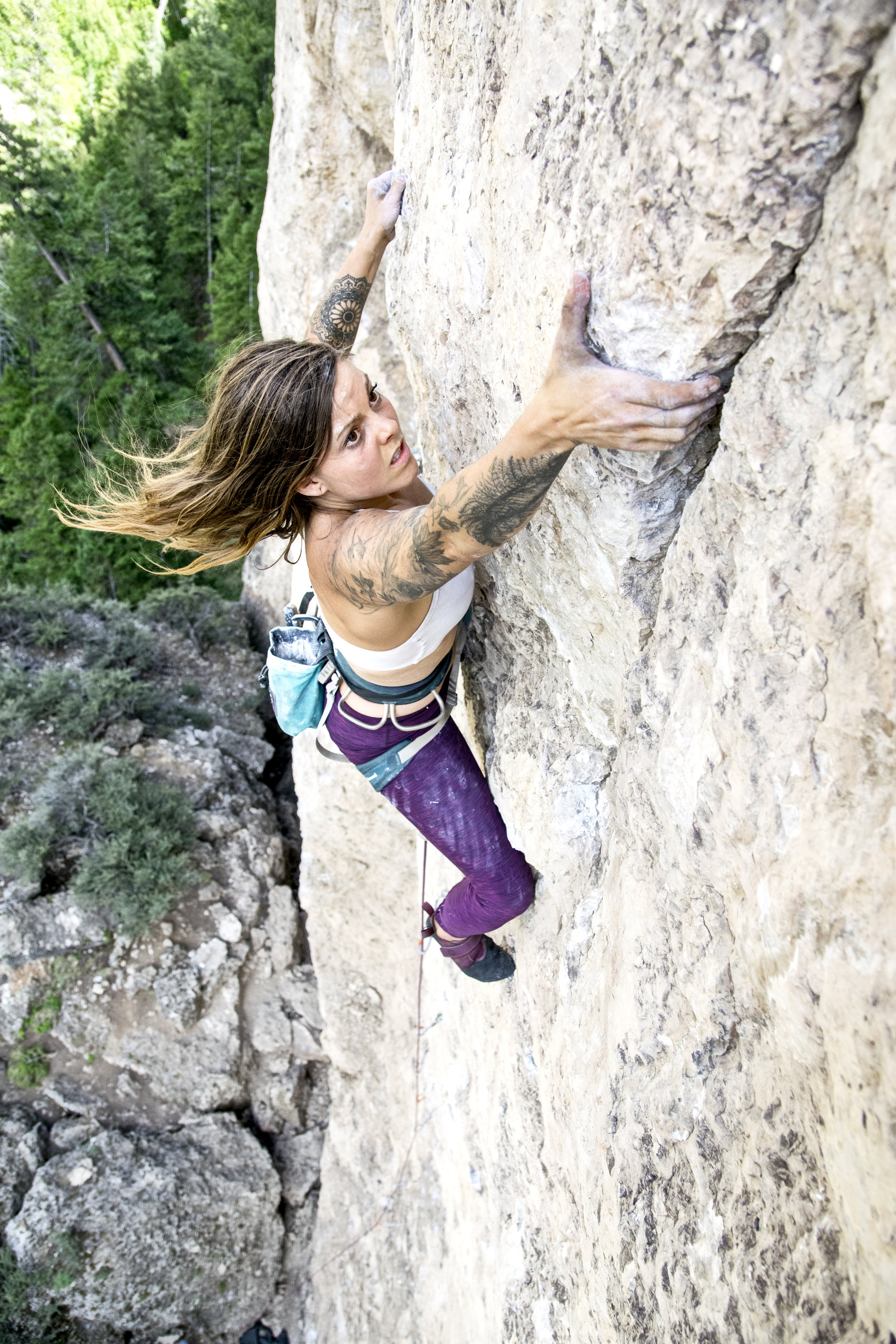 Photo courtesy of Jenny Walters (@Roarkfitness) of Rj on Psychoactive 13b/8a in Ten Sleep, WY