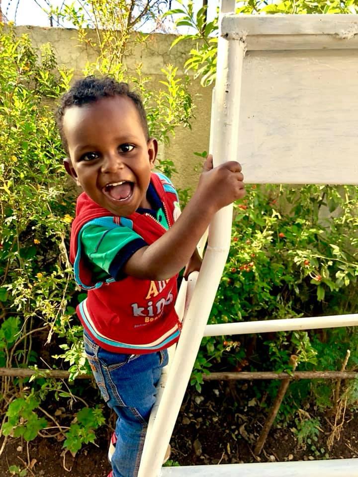 Kirubel, full of life and smiles…