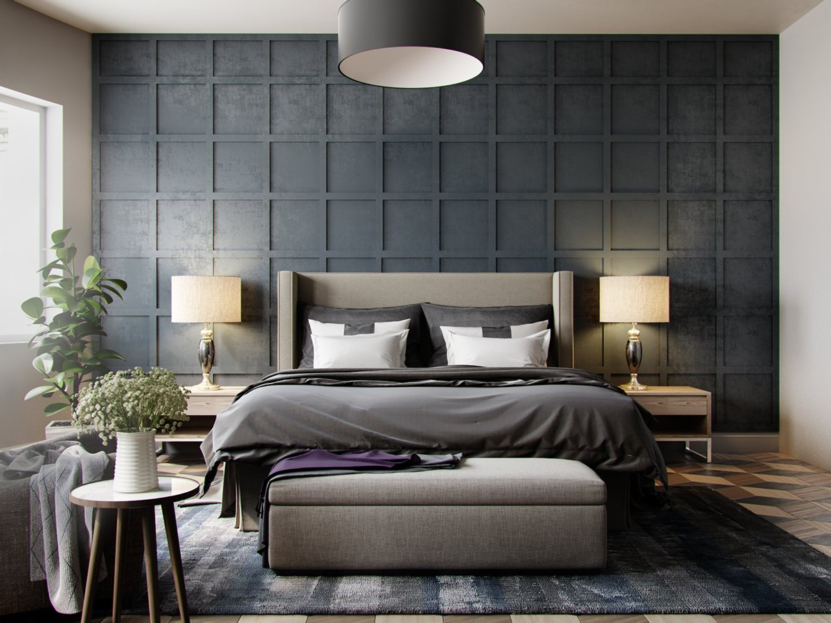 grey-wallpaper-bedroom-textured-in-squares-chequered-1.jpg