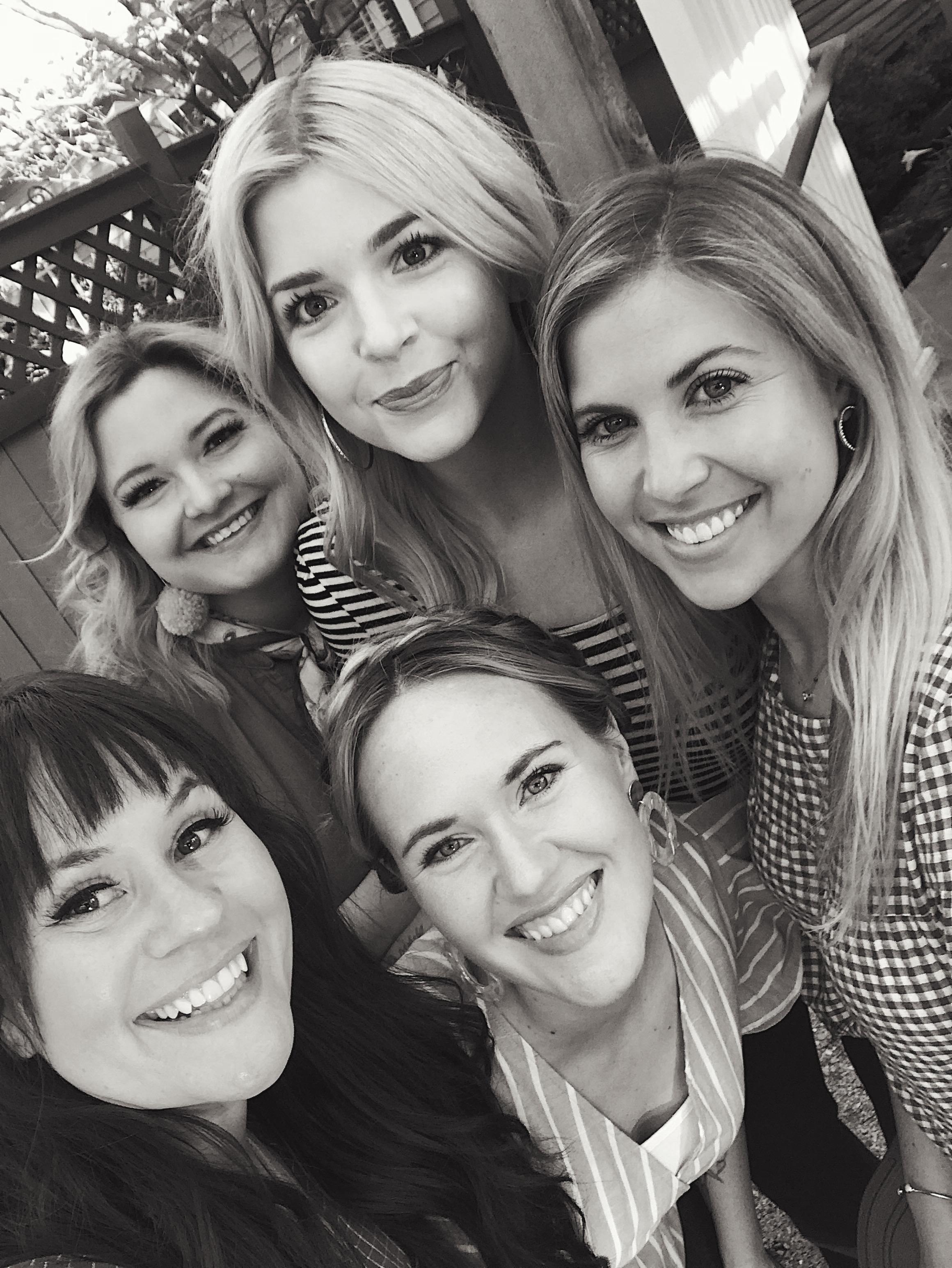 Elsie, Emma, Kaylee, Keely, and me