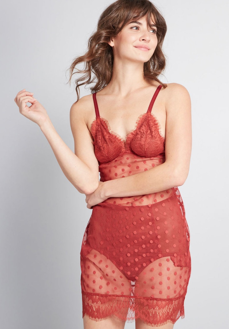 Going Sultry Nightgown and Panties Set by Modcloth $34.99