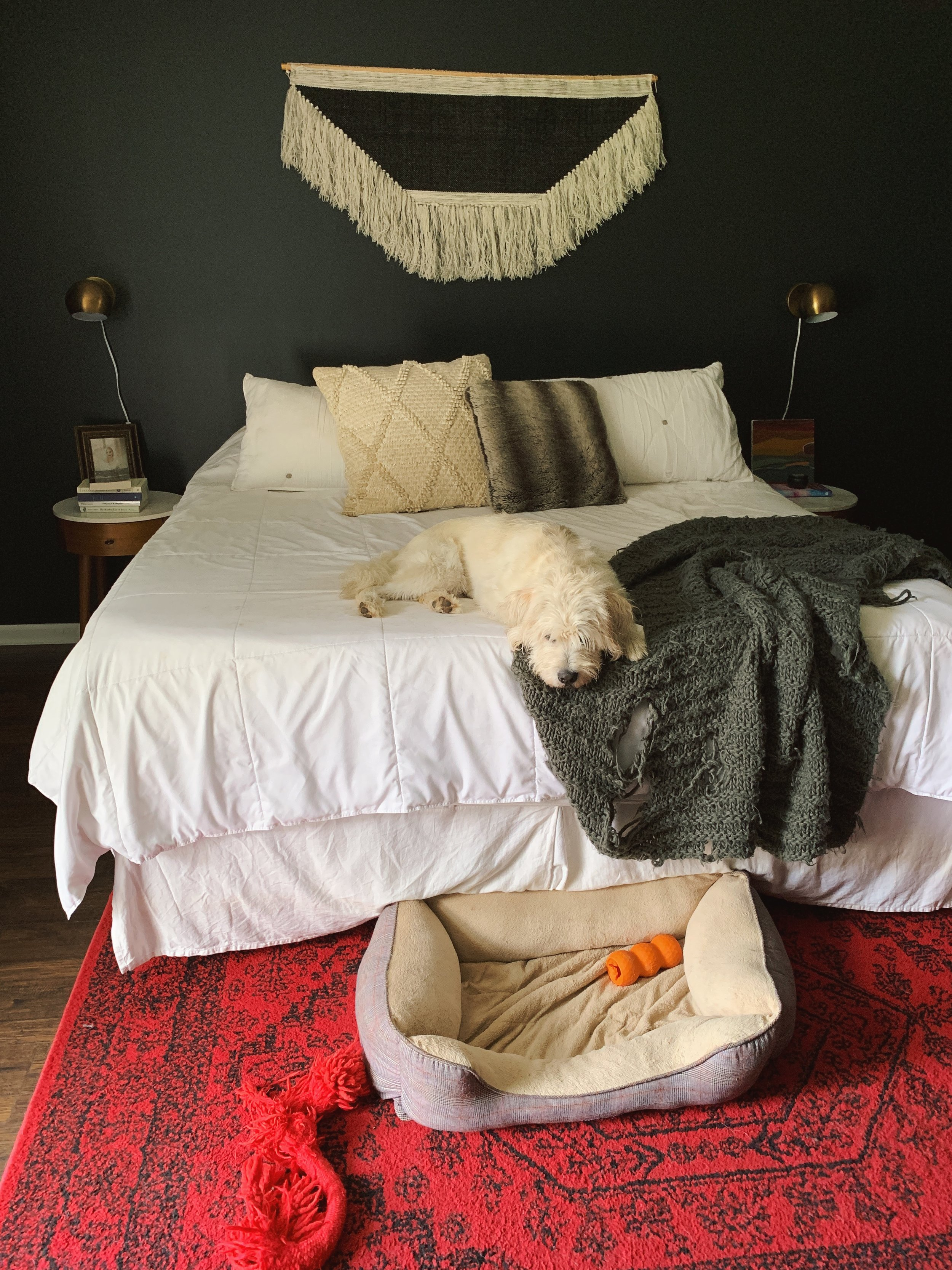 This is what our bedroom looks like on any given day.