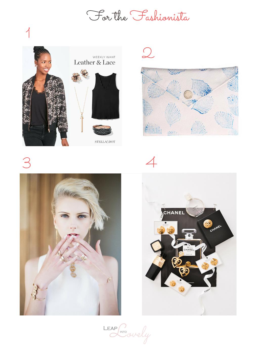 1.  Stella & Dot  || 2.  Kiki Capri  || 3.  Annachich Jewelry  || 4.  Sweet & Spark