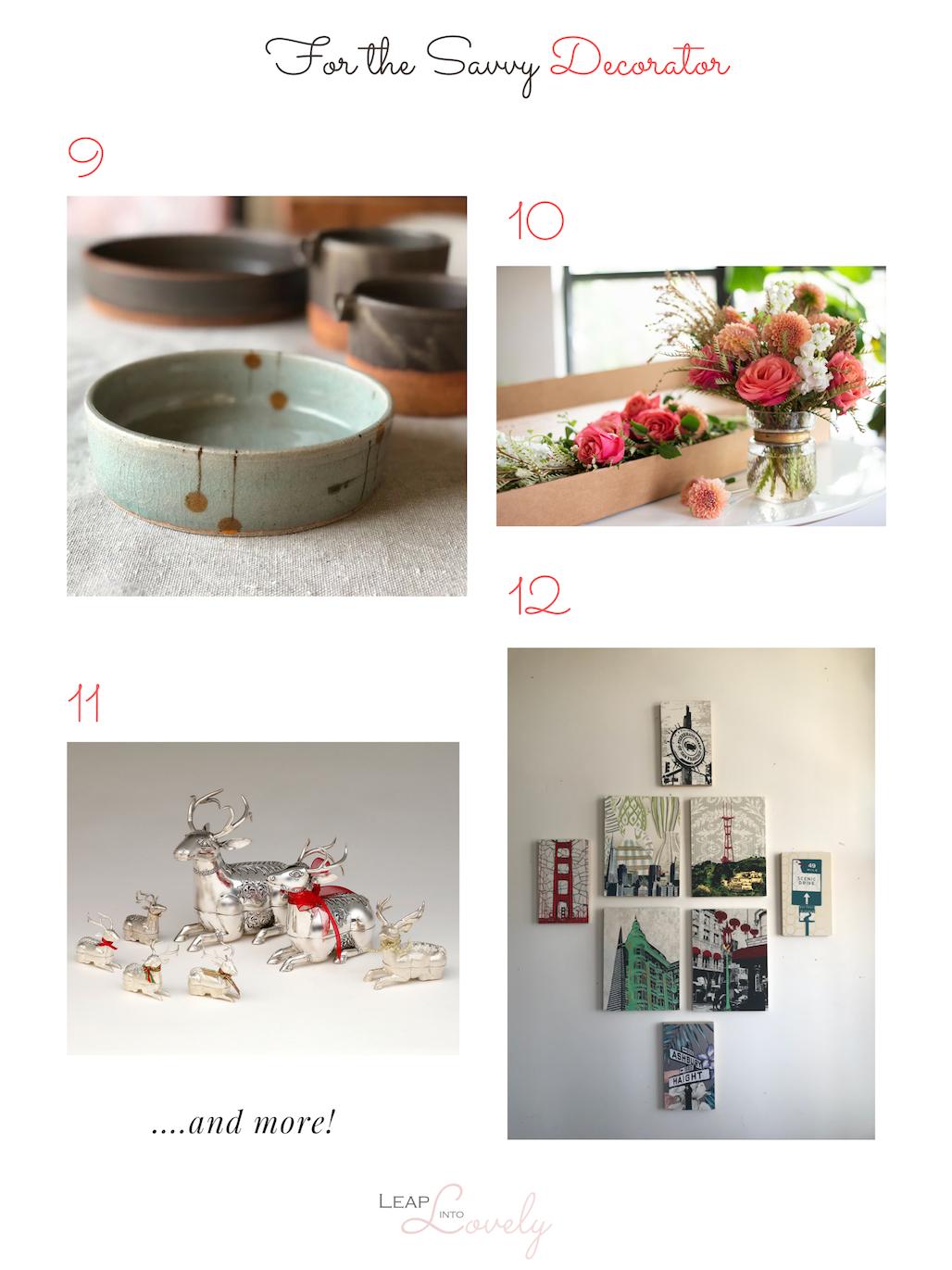9.  Tomoko Ceramics  || 10.  Matilda's Bloombox  || 11.  Kasumisou Gallery  || 12.  Jennifer Clifford Art + Design