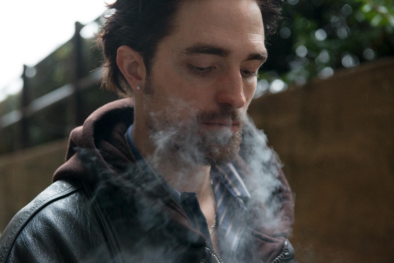 Robert Pattinson, on the set of Good Time
