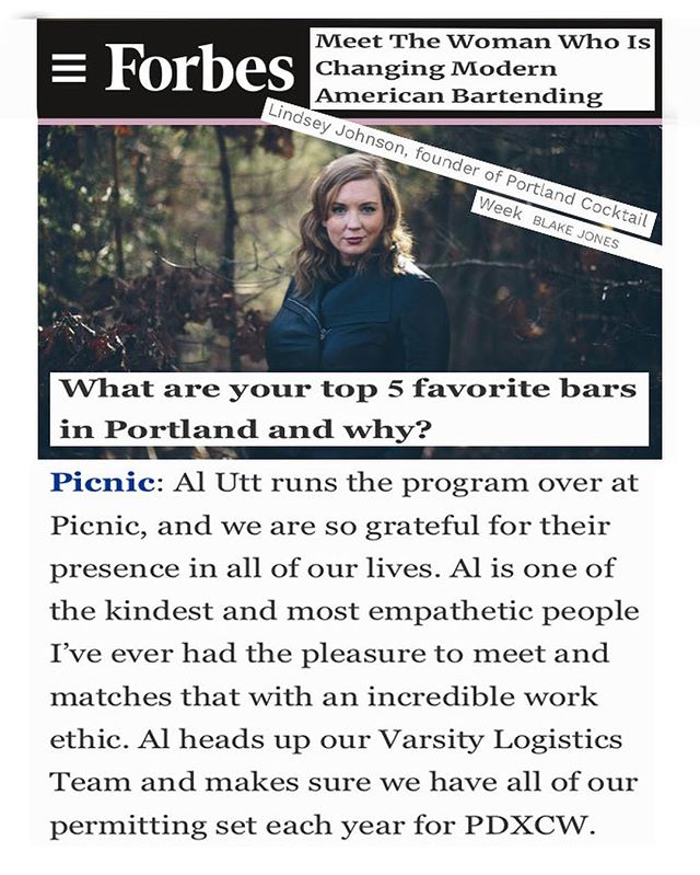 THANK YOU, @livethelushlife for choosing PicnicPDX as one of your Top 5 Favorite Bars in Blake Jones' @Forbes article. For those of you who don't know, Lindsey Johnson is the founder of Portland Cocktail Week and a true force in the cocktail industry! We can't wait for @pdxcw, next month! . . . . .  #happyhourpdx  #picnicpdx #23rd #NW23rd #pdxbar #myfavoritemurder #portlandor #murderino #scandalportland #portlandhappyhour #pdxrestaurants #pdxeats  #forbes #travelportland #traveloregon #foodielife #portlandbars #craveportland #cocktails #lindseyjohnson #portlandfood #top5bars #pdxcw #portlandadventure #cocktailweek #cocktailweekportland