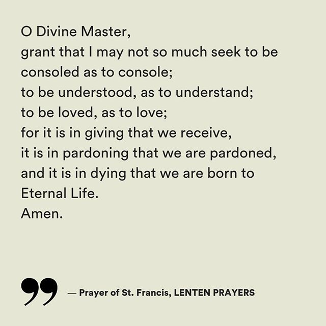 As followers of Jesus around the world observe Lent, join us in the prayer of St. Francis centered on surrendering our lifestyles to the One Who Embraced Death. — PRAYERS & PSALMS, link in the bio