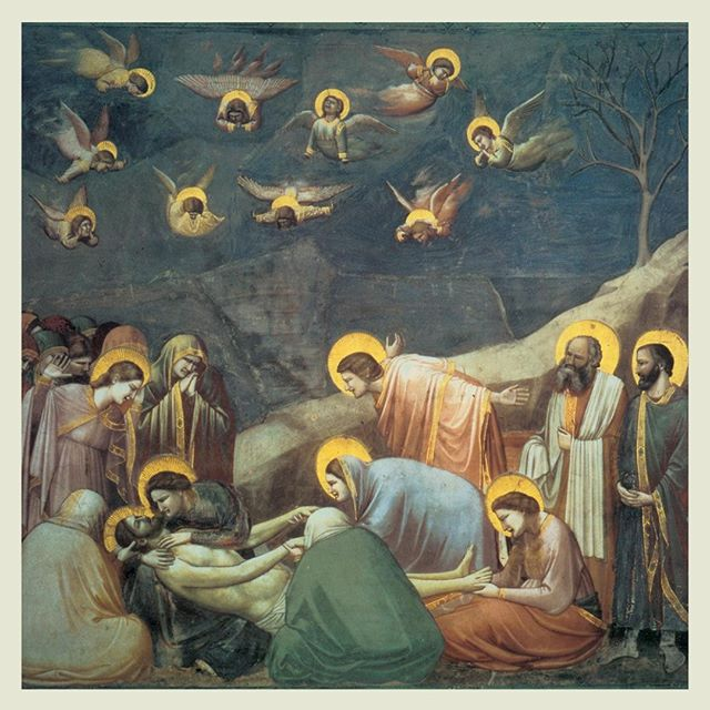 """Brush in hand, Giotto gives us permission to offer our Lord an exquisite lament."" @CamilleDCSutton explores the lamenting process through her art review of Giotto di Bondone's stylistically revolutionary work leading to the Renaissance.  Giotto di Bondone (c.1304-13) Lamentation of the Death of Christ [Fresco] — ART, link in the bio"