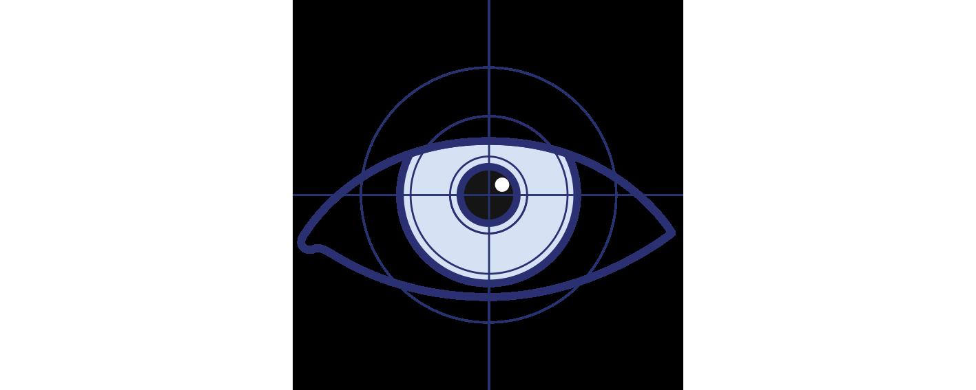Icon illustrating laser eye surgery by Brisbane Ophthalmologist Dr David Gunn.