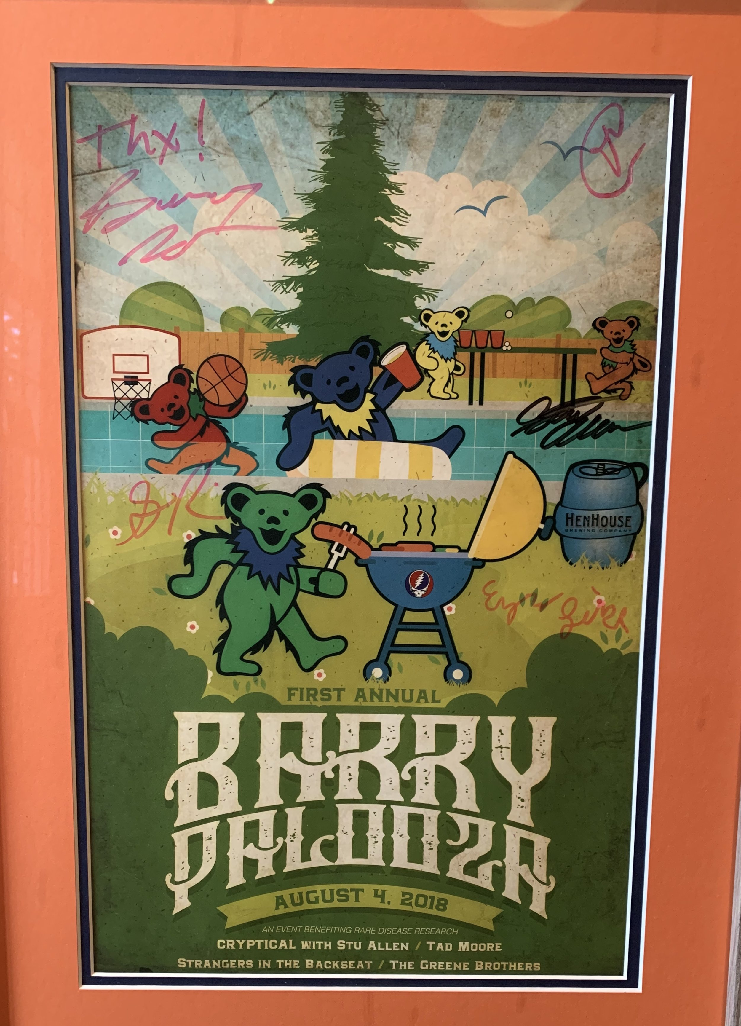 A poster made for the event! Barrypalooza 2018
