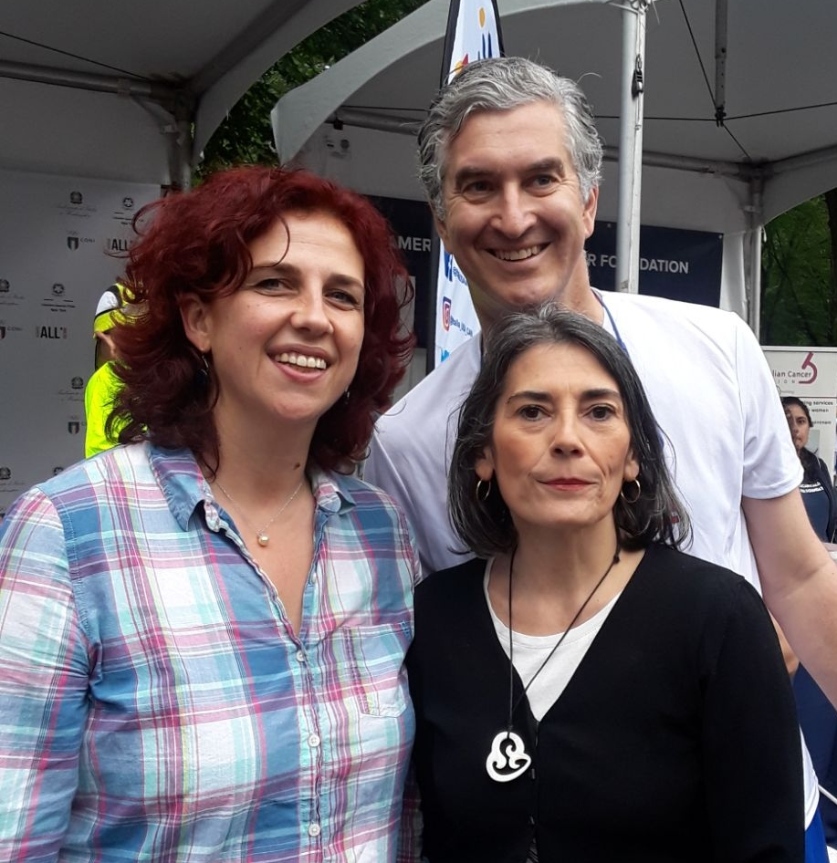 Stefania & Benedetta with Italian Consul General Francesco Genuardi at the Italy Run - June 2018