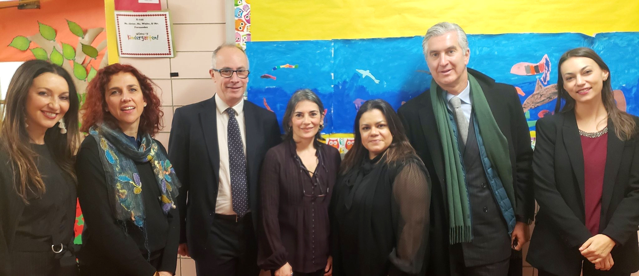 An honor to have the Delegation of the Italian Consulate in NY visit the Italian Program at PS242 - January 8, 2019