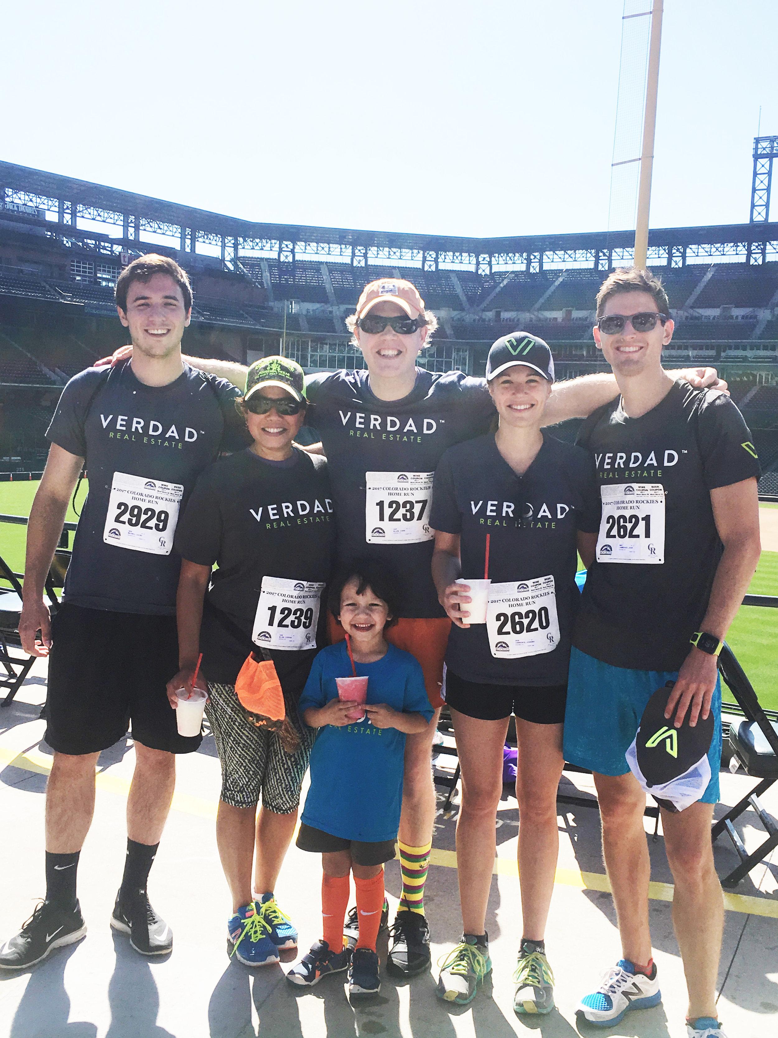 Denver Team at Homerun 5K