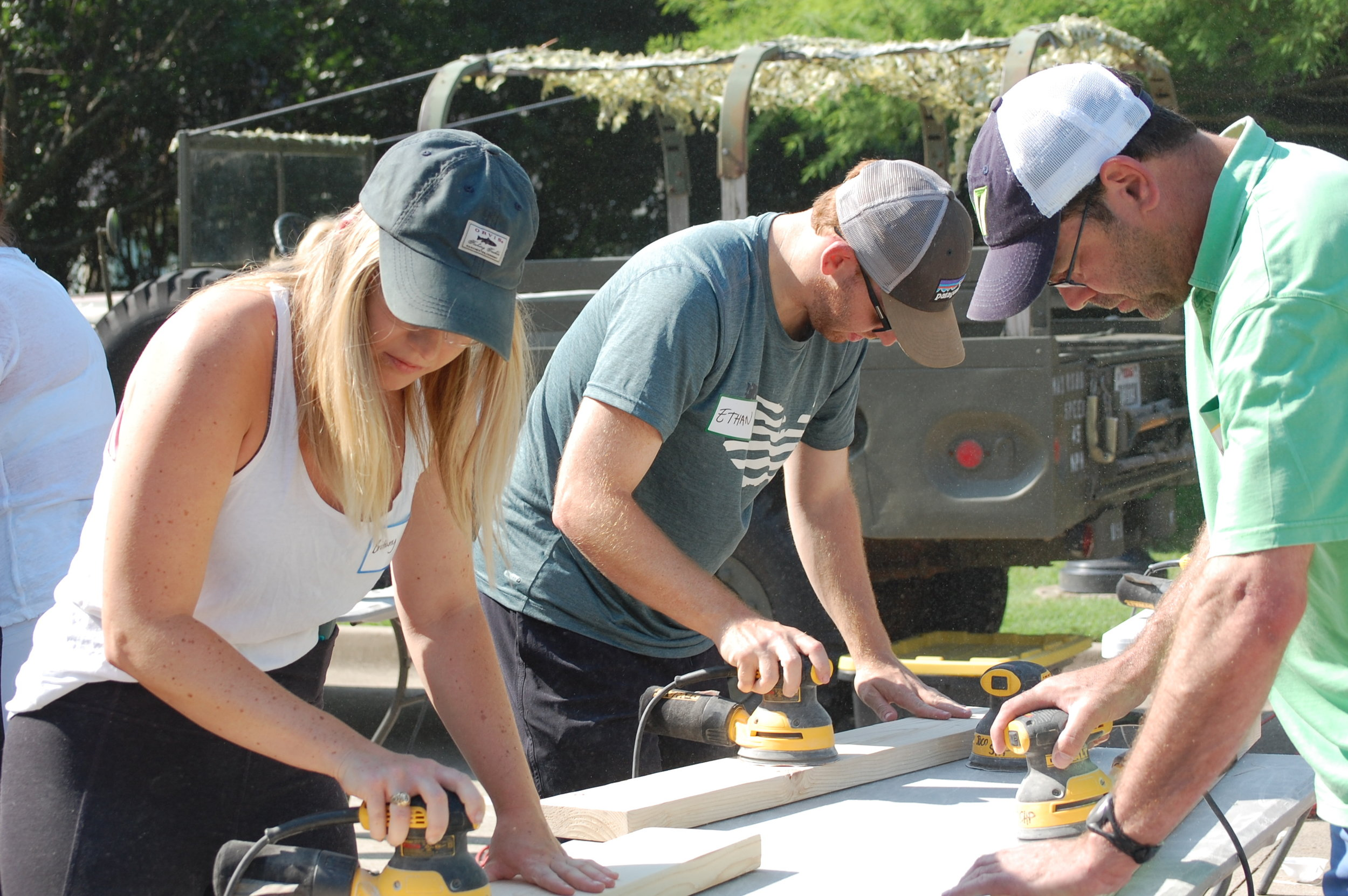 GiveBack - Bunk Bed Build Day - Working 2.JPG