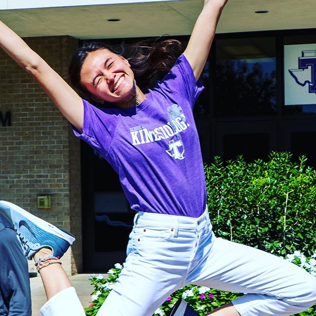 We are jumping for joy because it's National Women's Health and Fitness Day!  What will you do to be active today? . . . . #Fitness #WomensHealth #Activity #Wellness #TeamKINE #TarletonKinesiology