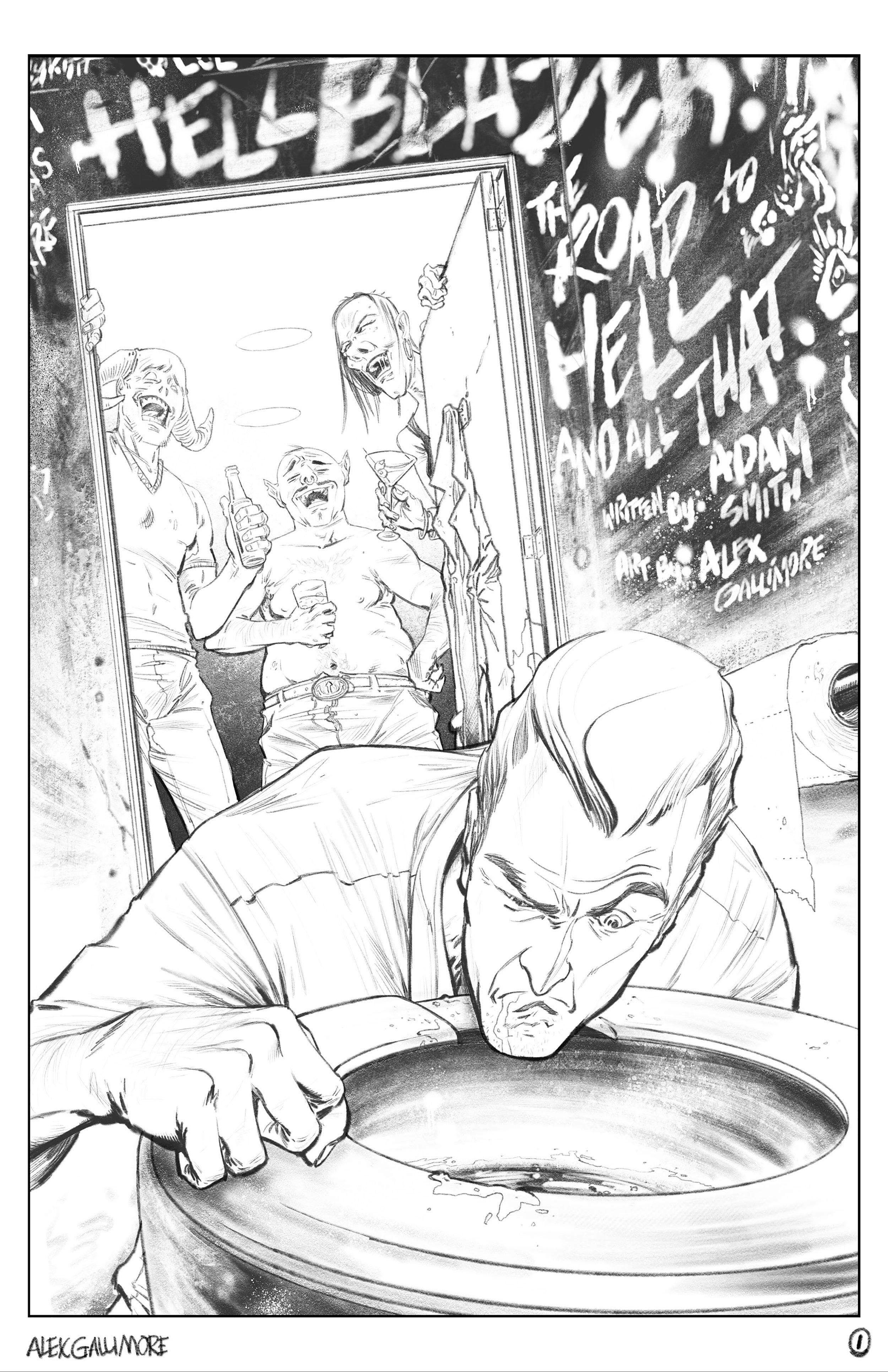 The Hellblazer DC Sample page 1 pencils