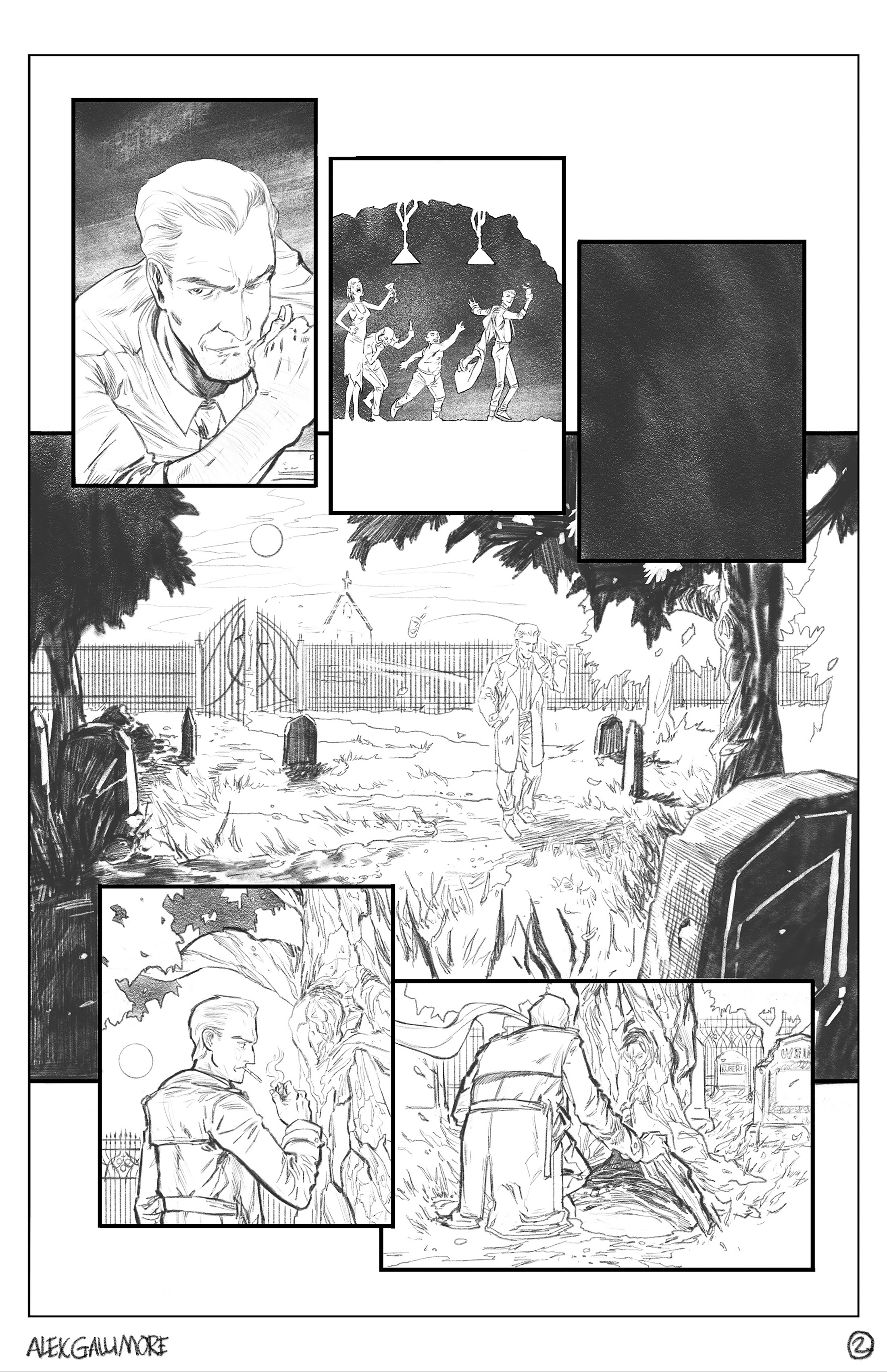 The Hellblazer DC Sample page 2 pencils