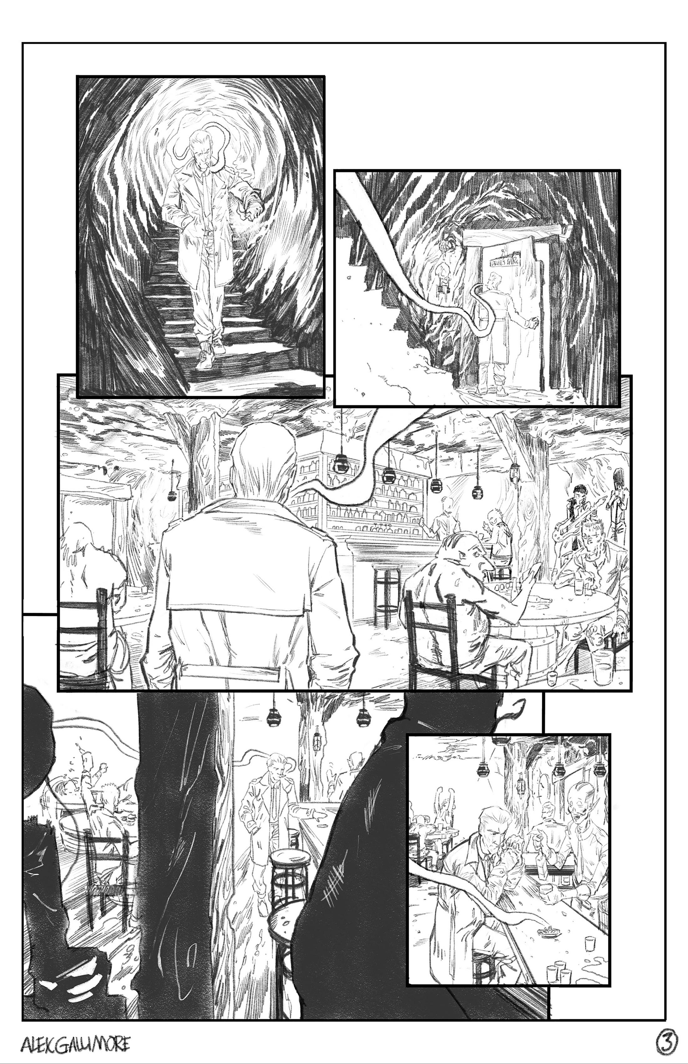 The Hellblazer DC Sample page 3 pencils