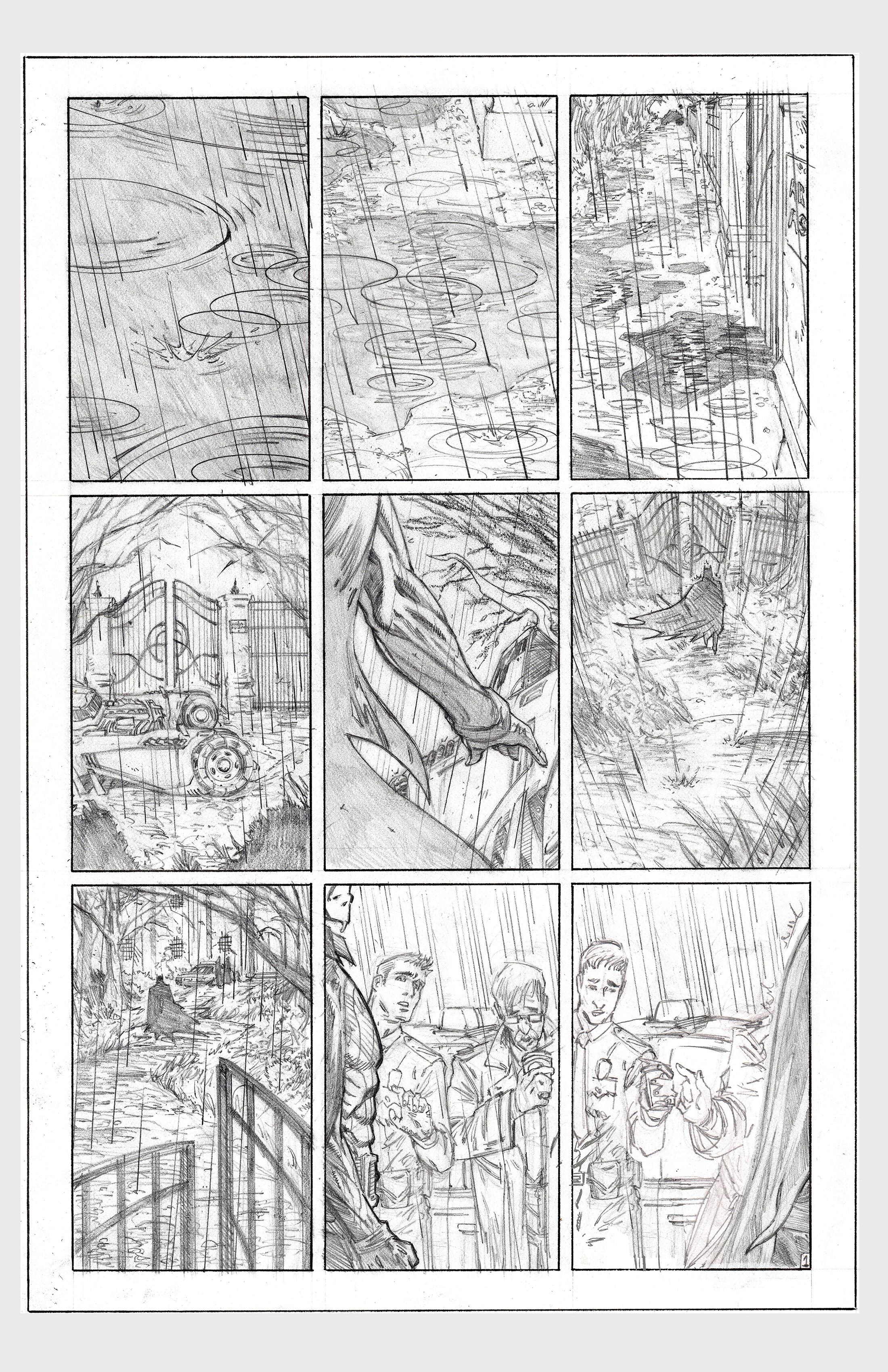 The Killing Joke DC Sample page 1 pencils