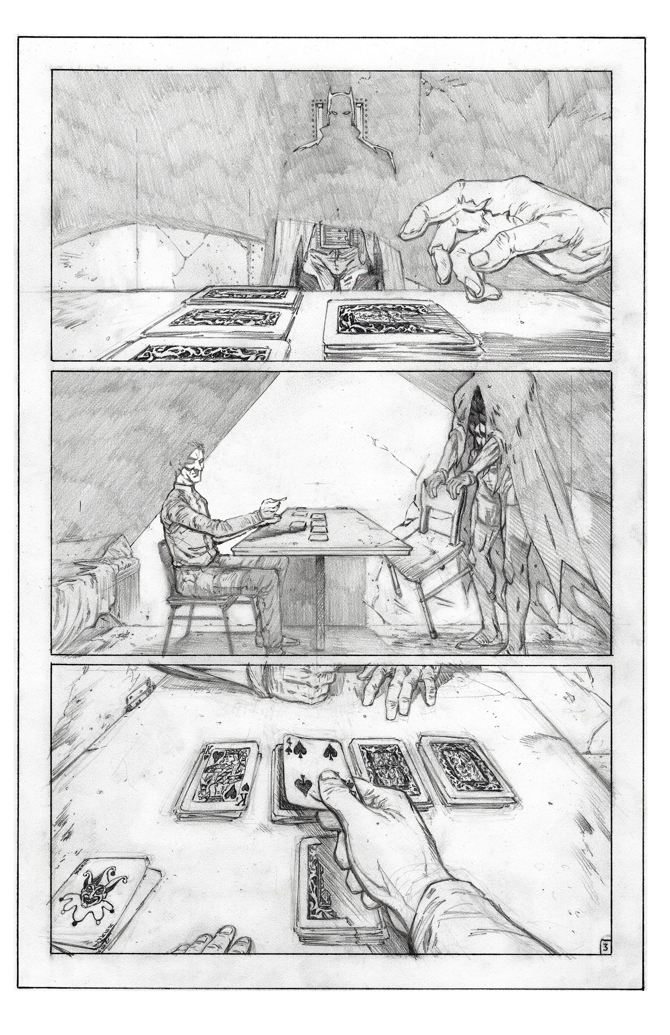 The Killing Joke DC Sample page 3 pencils