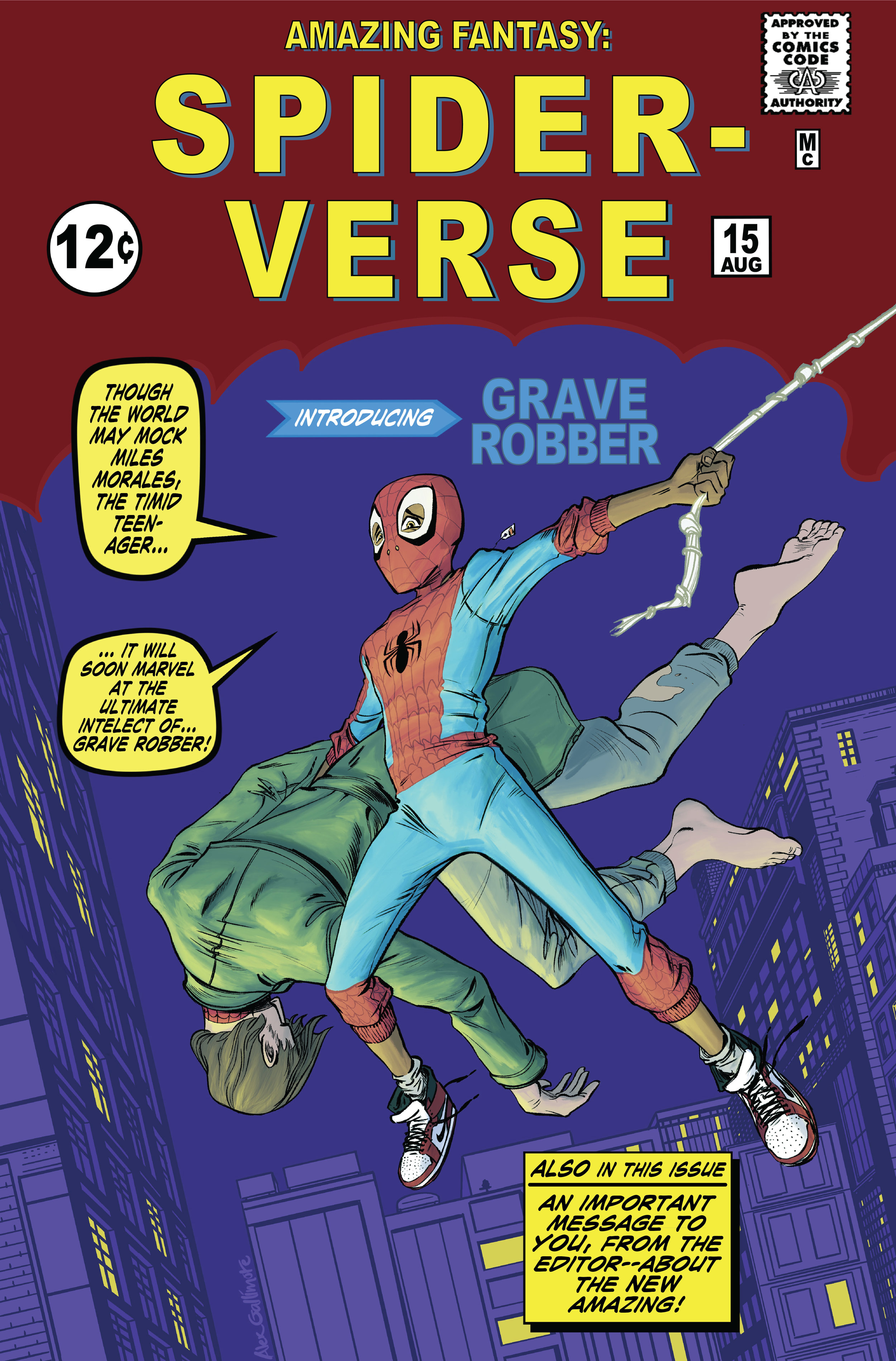 Spider-Verse Homage Cover colors