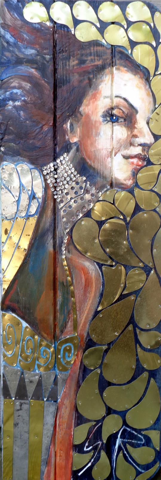 """""""Per Klimt"""" 12x36"""""""