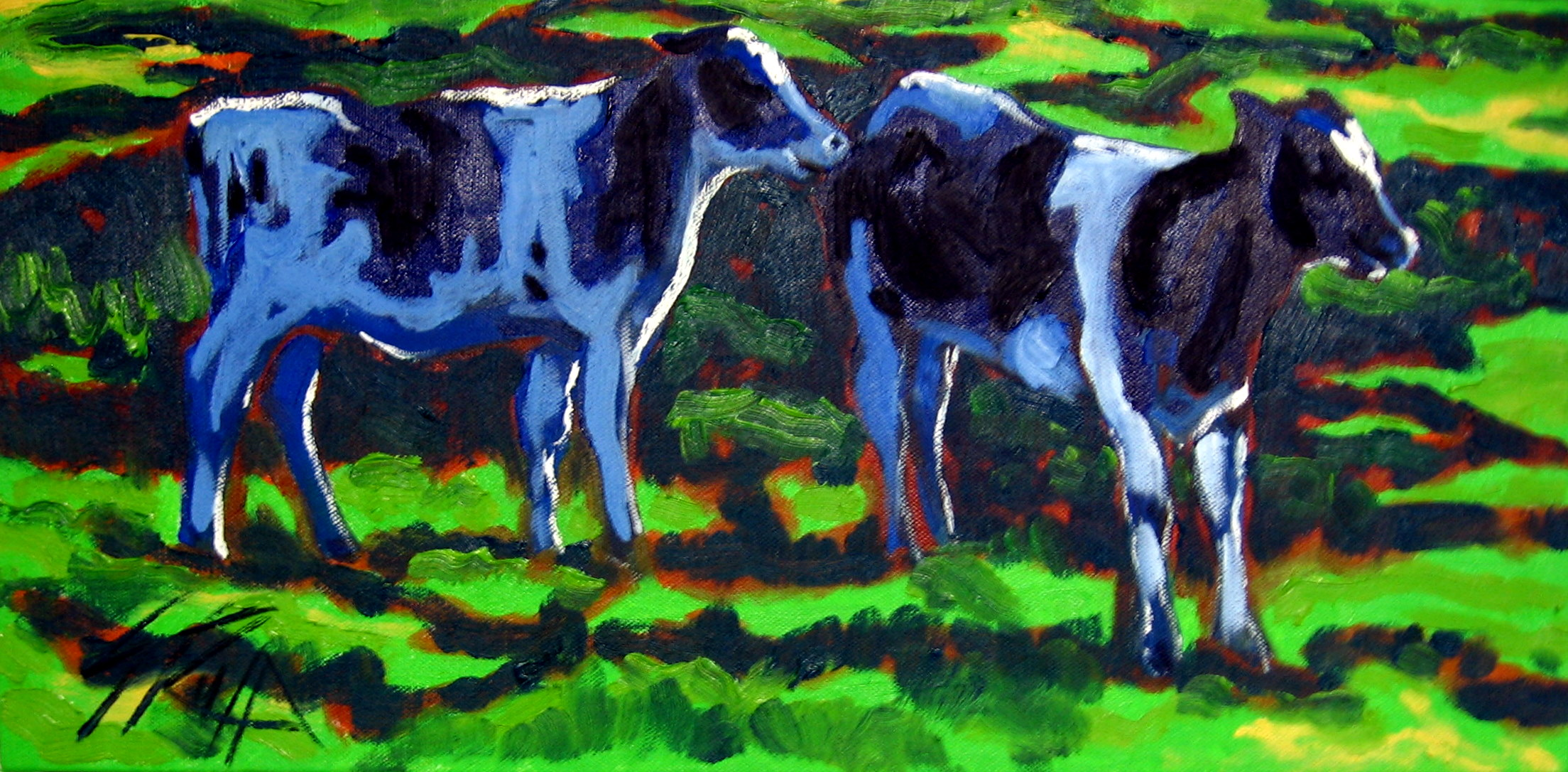 """Pasture Posers"" 10x20 SOLD"