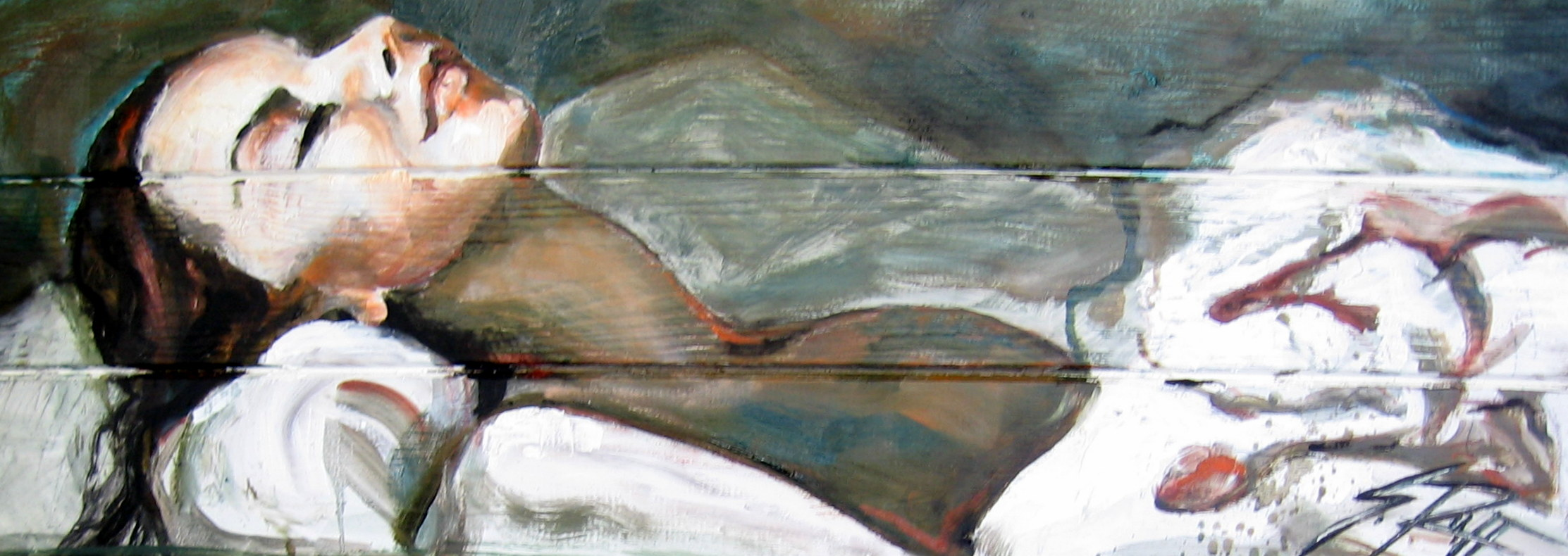 """""""Delivered"""" Oil On Beach Panel"""