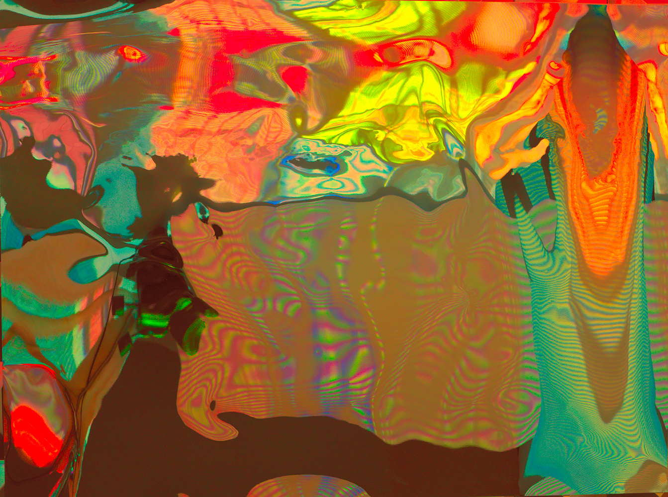 Elias Wessel  Hinter den Dingen 6 , 2017  Color Photograph  Original: 180 x 240.3 cm