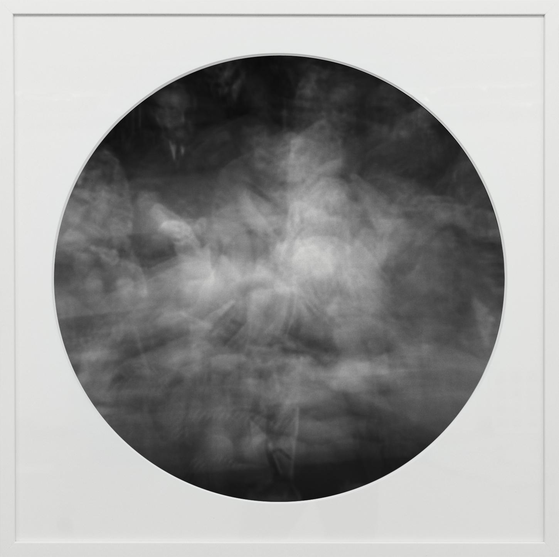 Elias Wessel   Ringbilder II , 2014-15  B/W Photograph 76.3 x 76.3 cm (framed)