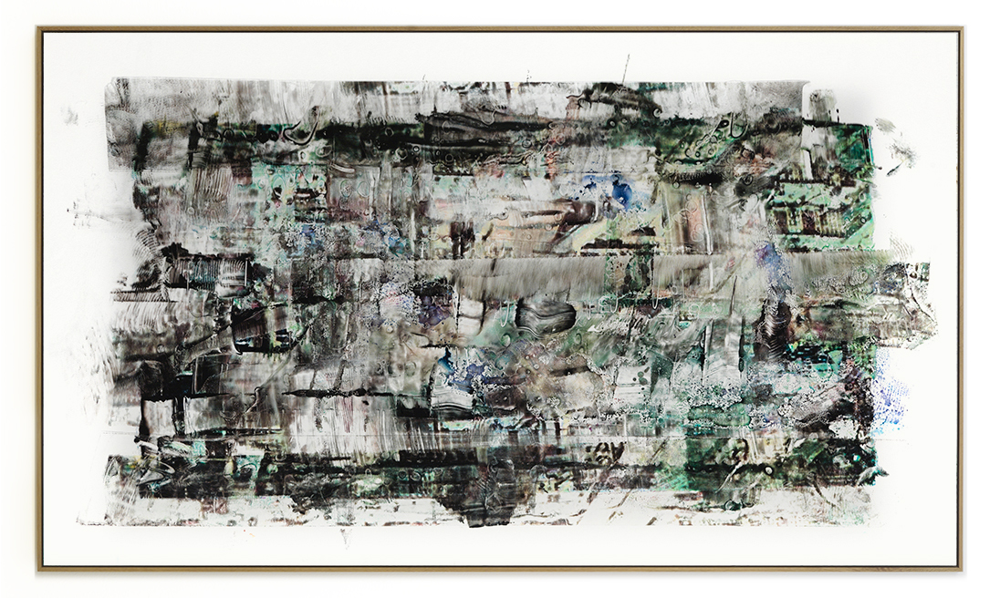 Elias Wessel Die  Freude am Rest – Zur Entmaterialisierung der Bilder, No. 13 , 2018 Photowork Original: 161 x 275,5 cm