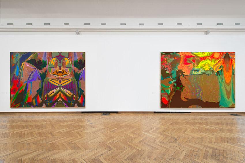 Installation View:  Hinter den Dingen 8 + 6  , 2017 © Elias Wessel