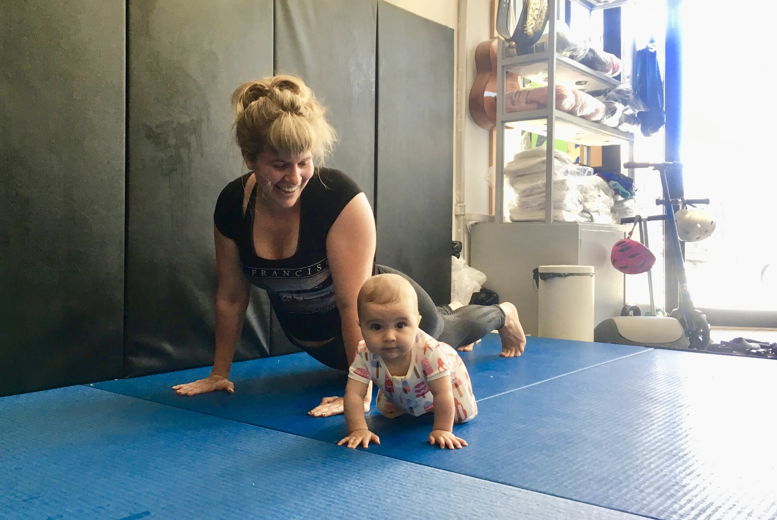 - Not only did Julia help me get back into shape after having my sweet baby. She was so encouraging and helped me keep in a positive mindset. She was also so loving to my daughter when I brought her to sessions with me.-Célia