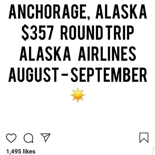 Good news. Prices for flights to Alaska dropped. Come join us!