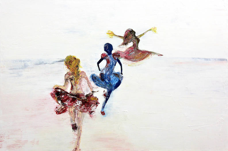 - 'Dance Away'Oil on Canvas in a white timber frame ready to hang71cm x 51cmAlso available as a print$1750ENQUIRE