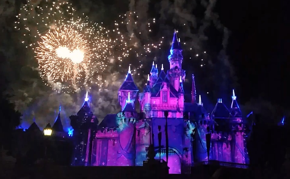 We camped out for close to an hour to get such amazing seats for the Disneyland fireworks