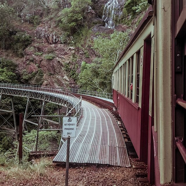 A train ride through rain forest... Kuranda Railway is an absolute must-do if you're visiting Cairns, Qld.  The town of Kuranda itself is absolutely beautiful.  I could have spent a lot longer there! #rainforest #kuranda #kurandarailway #cairns #queensland #trainride