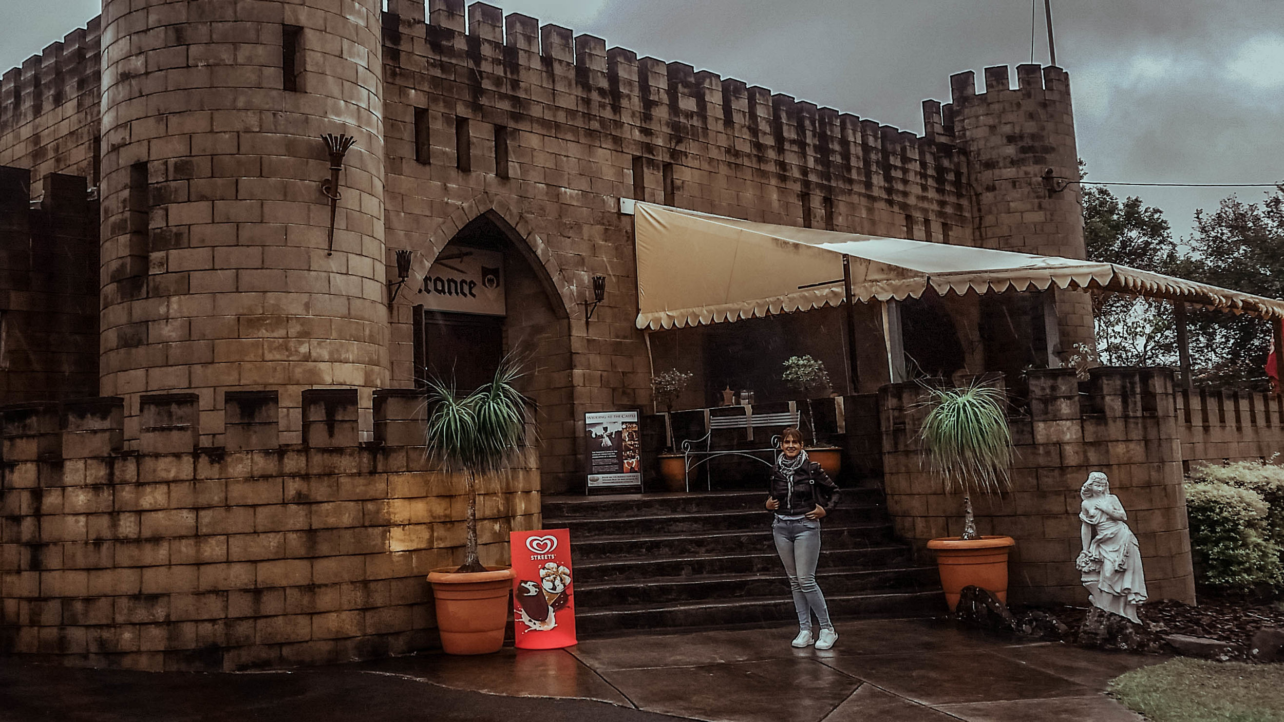A cold, rainy, overcast day created the perfect mood and ambiance to explore a Norman castle