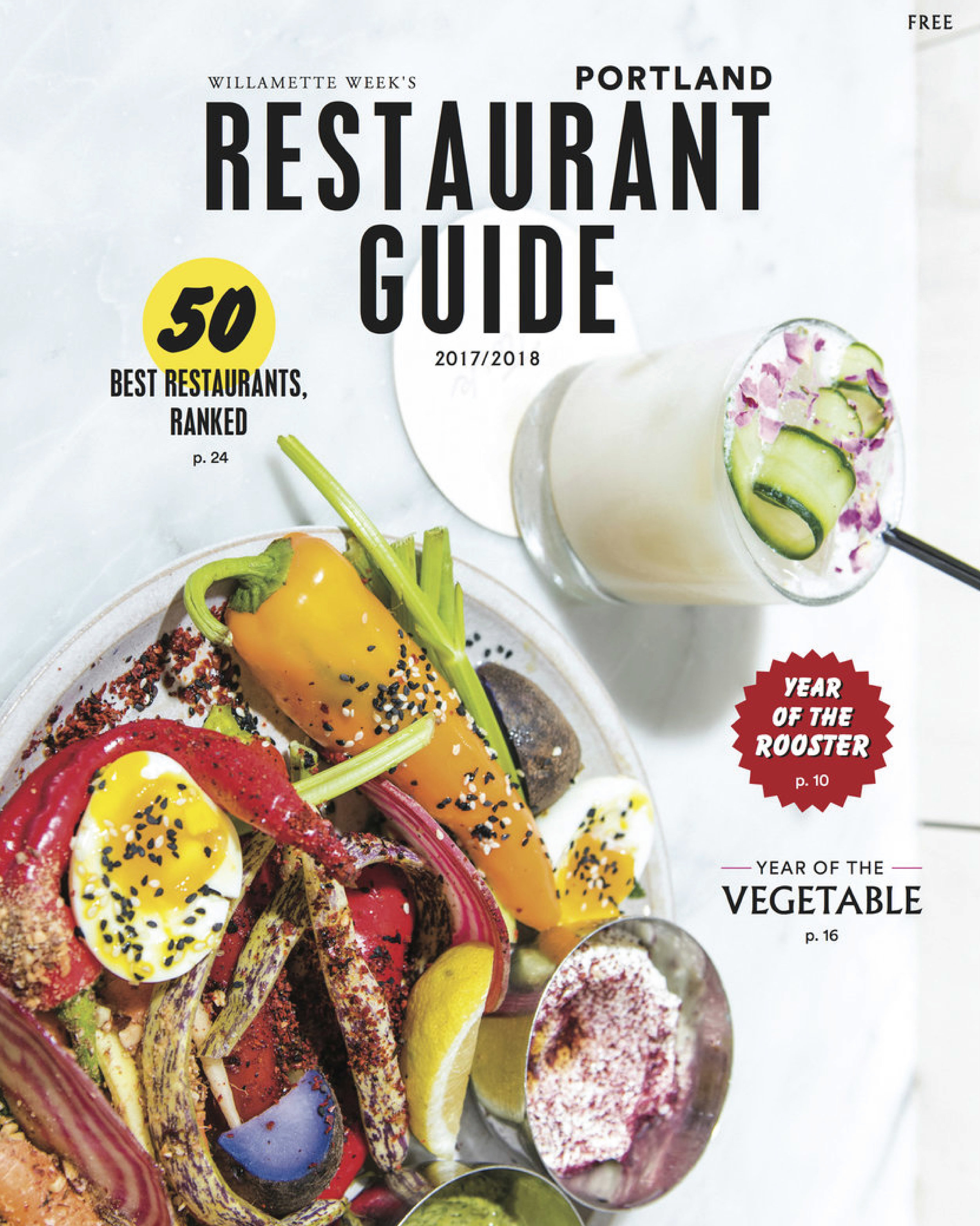 RESTAURANT GUIDE MAGAZINE - Where to eat this year with features on new restaurants, revived kitchens, and notable menus.