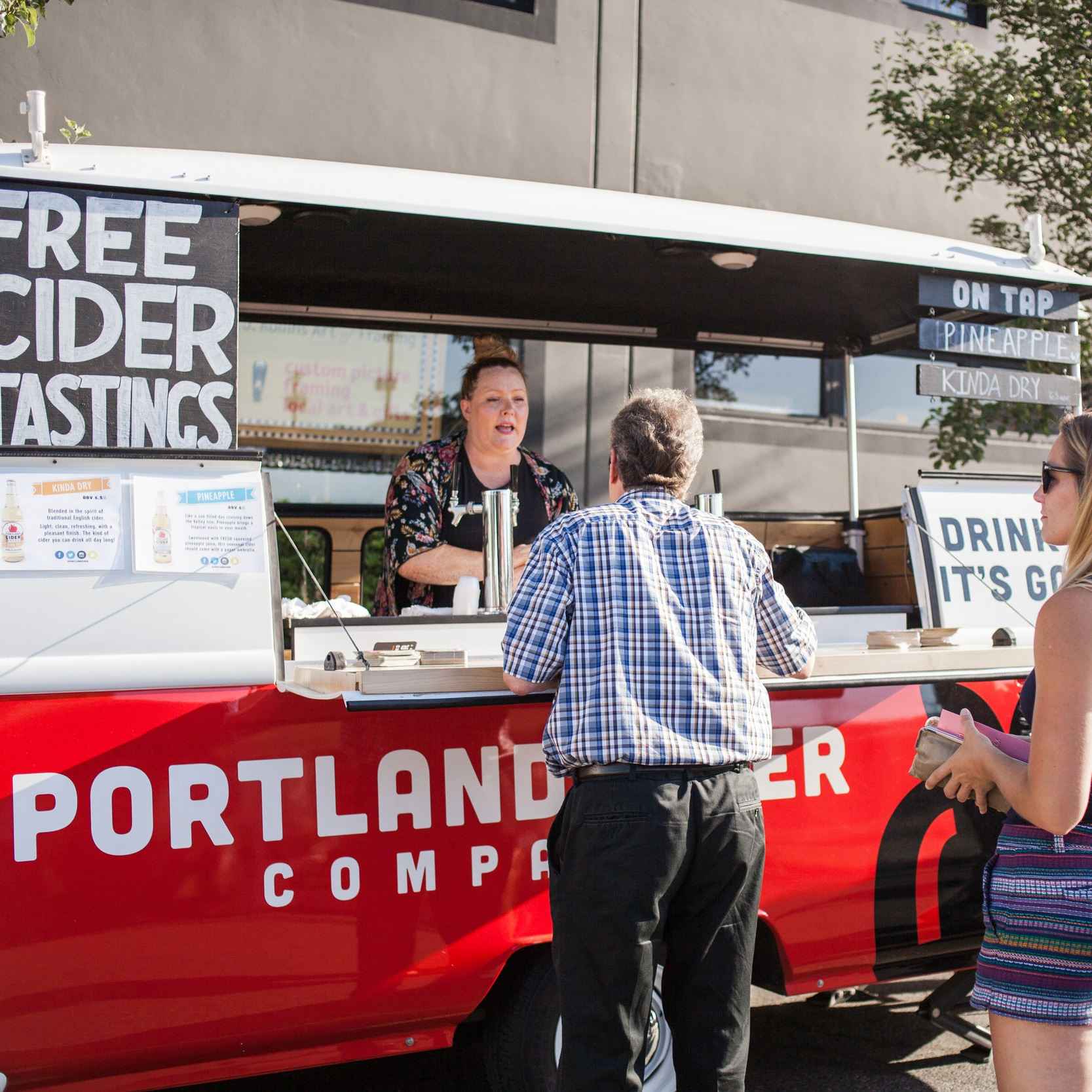 Free cider tastings by Portland Cider Company.