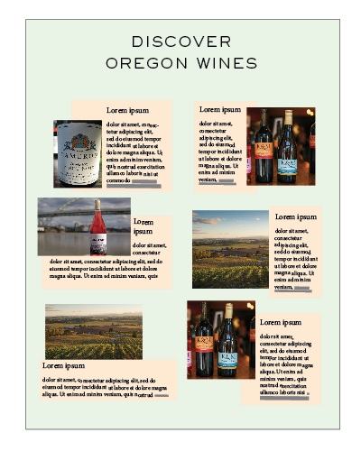 Get your wine, winery or tasting room in this special section dedicated to wine lovers. This page will be designed by our team to fit in seamlessly with the editorial. Each feature will take up roughly 1/6th of a page.