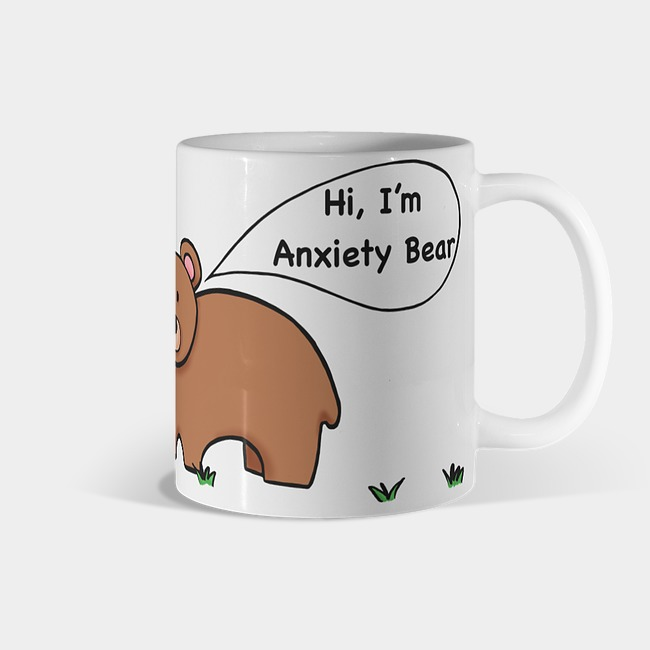 Hi, I'm Anxiety Bear Mug - Anxiety Bear mug$10.00Design created by Belle during one of the Saint 14 Project Podcast episodesAll proceeds go to support Mental Health Organizations
