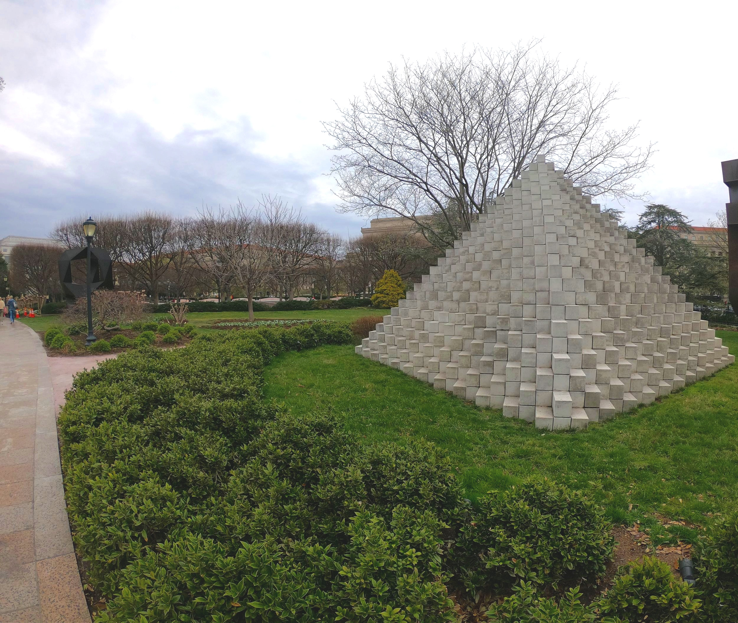 Four-Sided Pyramid by Sol Lewitt
