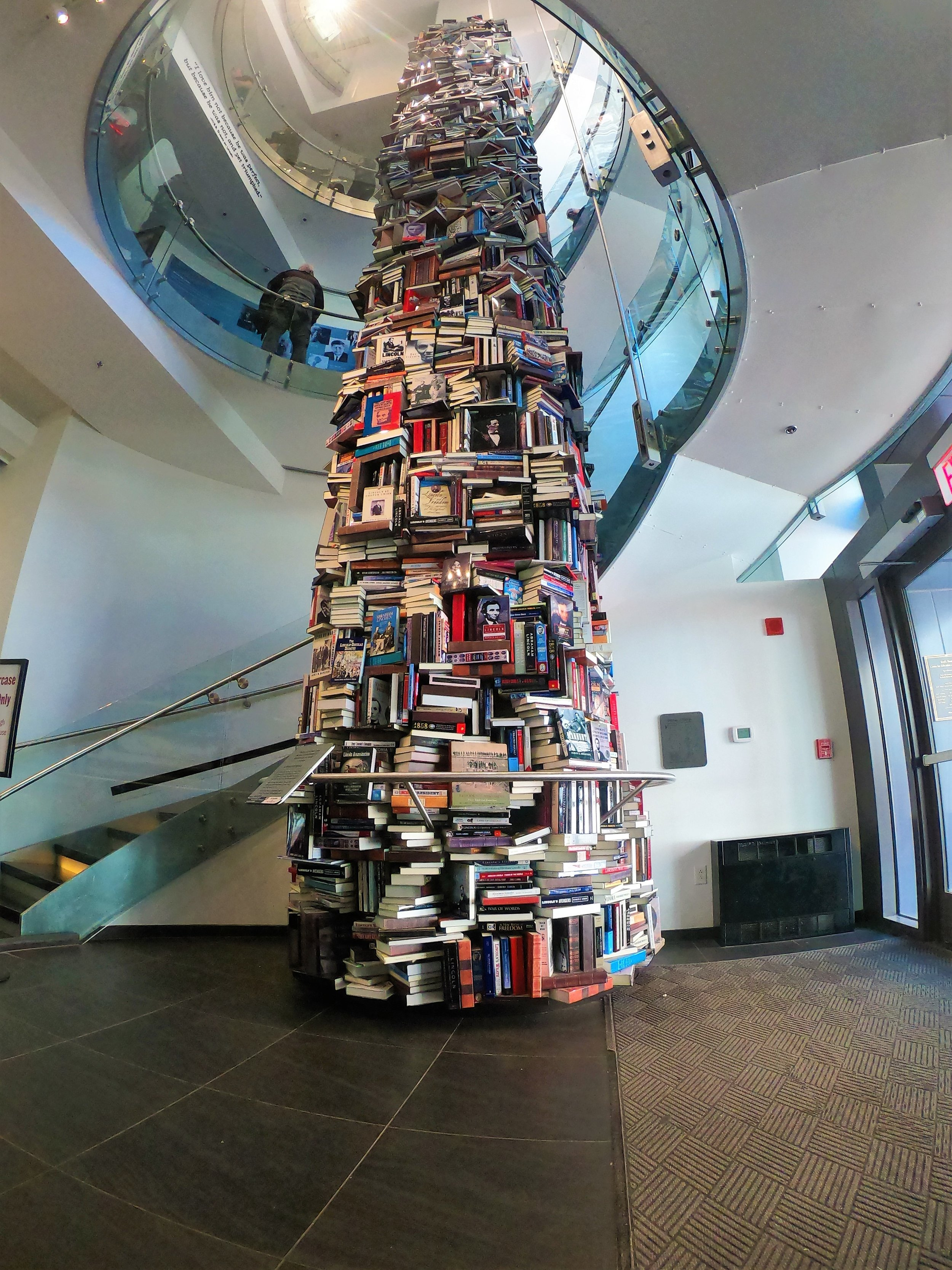 Abraham Lincoln book tower