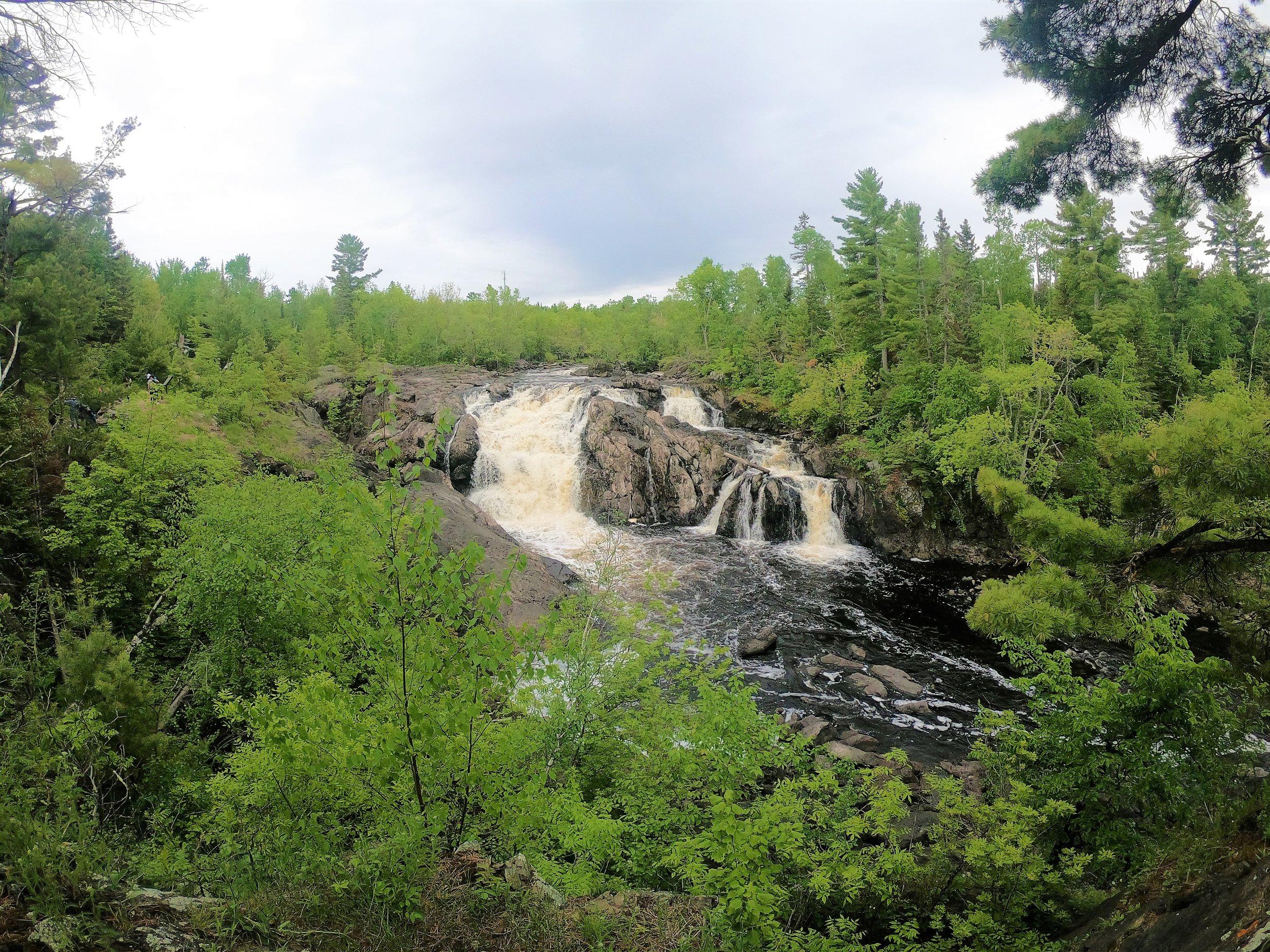 Kasishiwi Falls in Minnesota