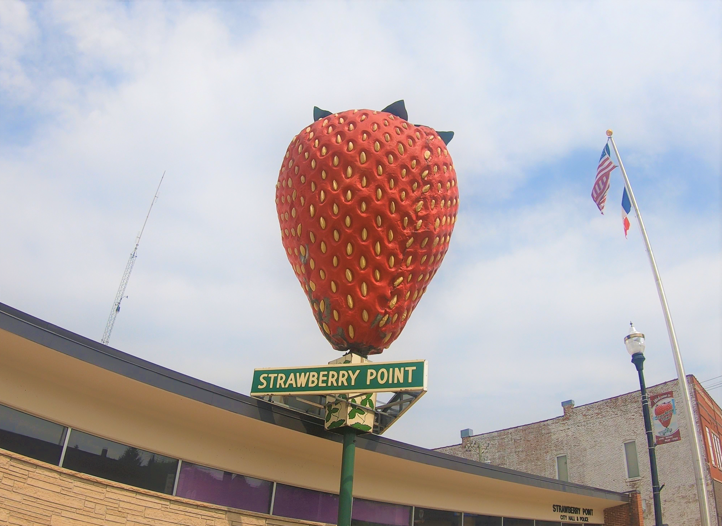 World's Largest Strawberry in Strawberry Point, Iowa