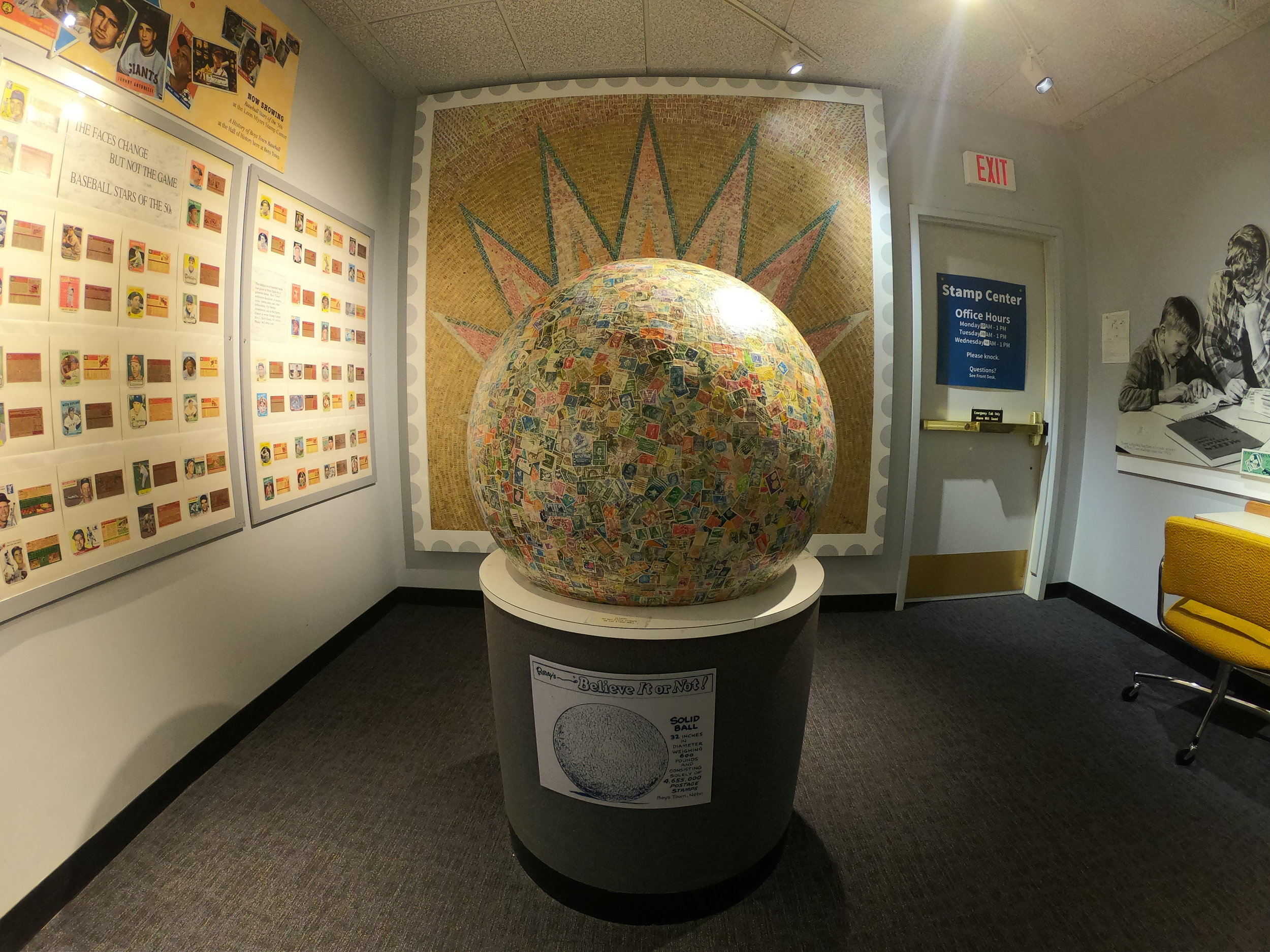 World's Largest Ball of Stamps in Boys Town, Nebraska