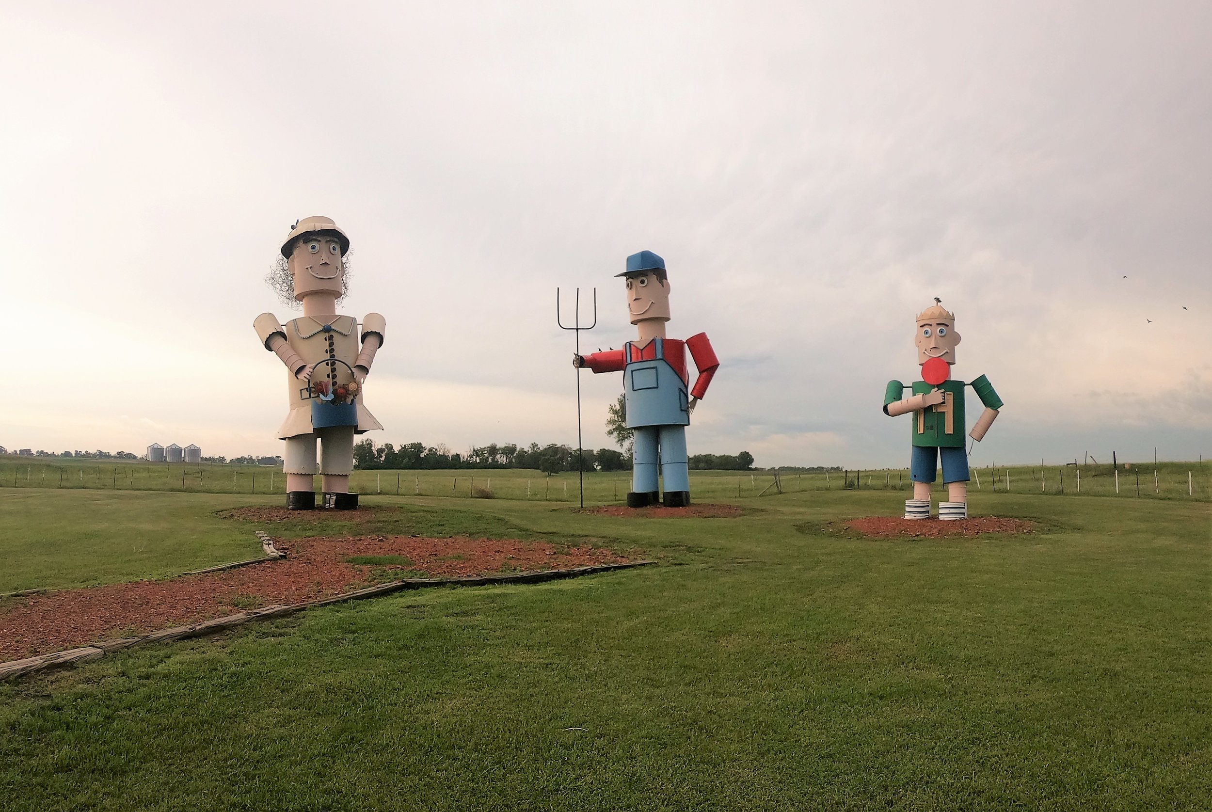 World's Largest Tin Family on the Enchanted Highway in Regent, North Dakota