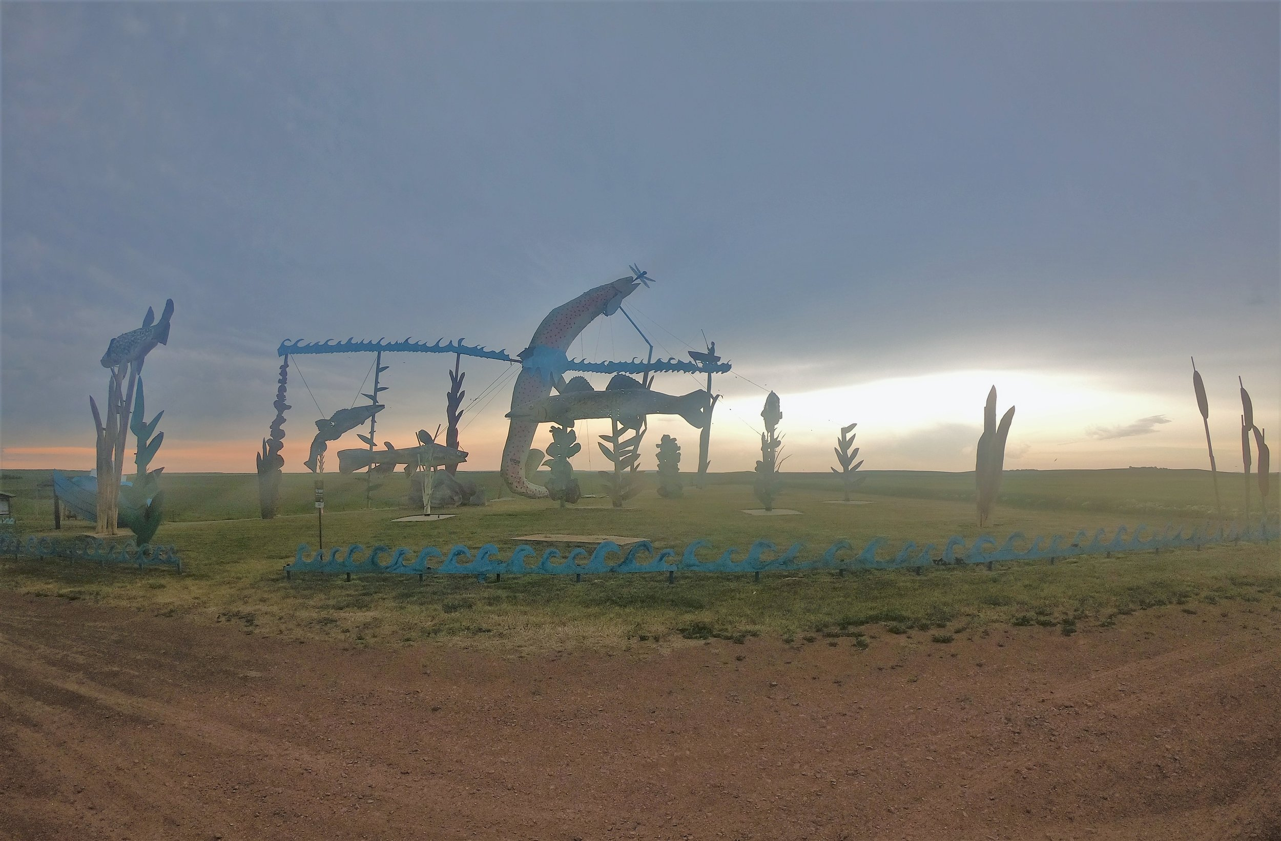 Fisherman's Dream on the Enchanted Highway in Gladstone, North Dakota