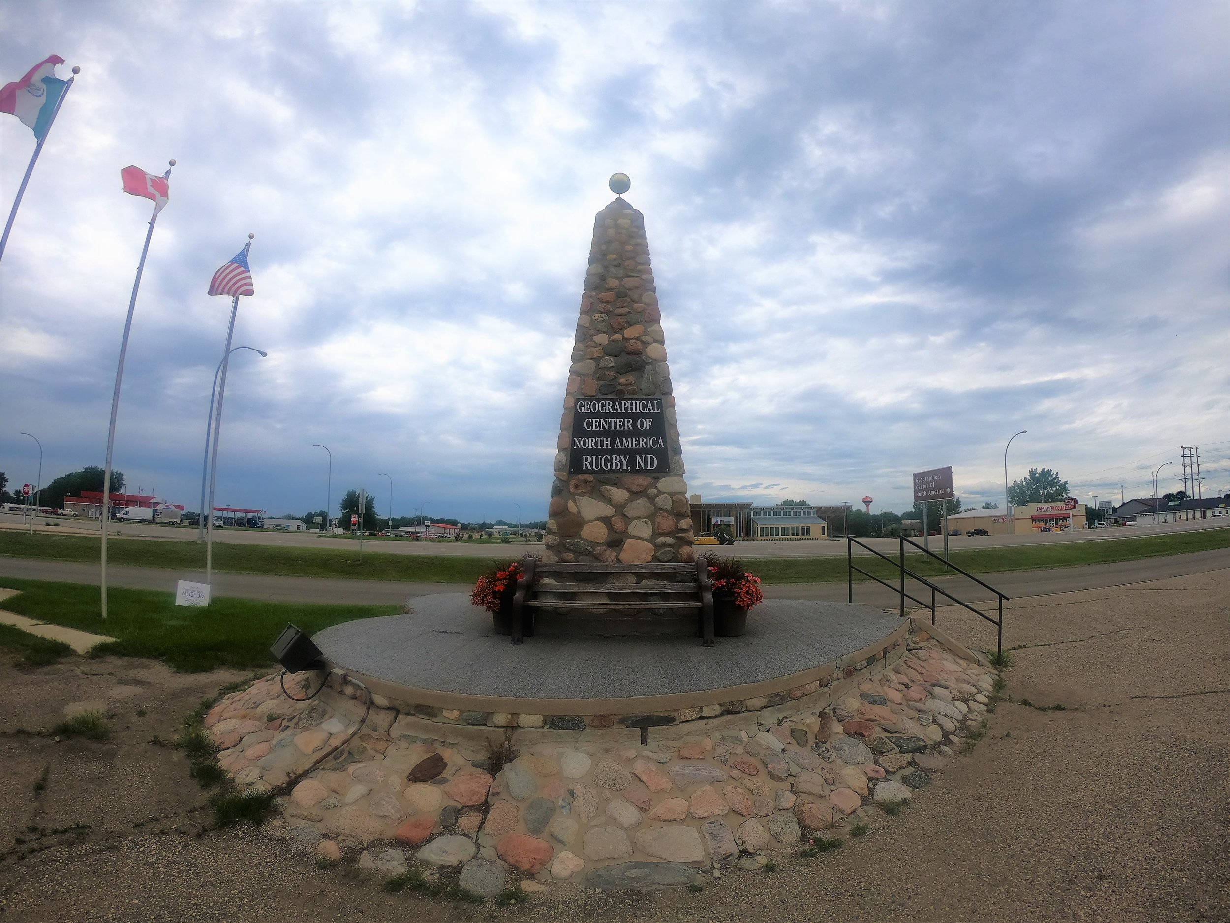 Geographical Center of North America Monument in Rugby, North Dakota
